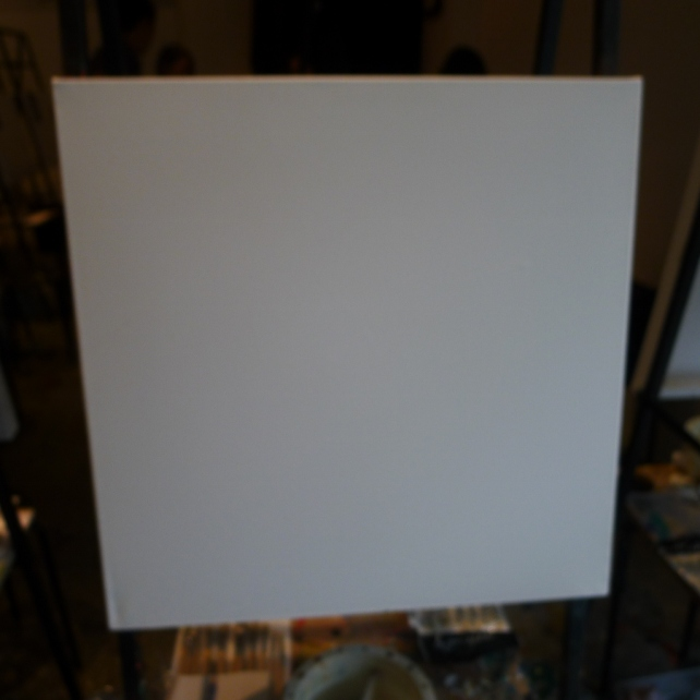 My mind was as blank as this canvass on that day....